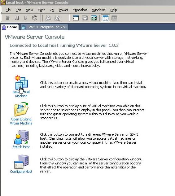 Svrops com - Testing Windows Server 2008 in VMware